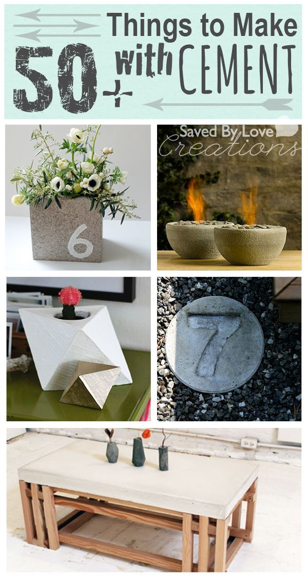 50 things to make from cement concrete and cinder