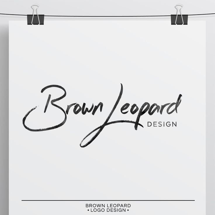 Premade logo design - Brown Leopard. Pre-made logo for photographers. Calligraphy logo, hand lettered logo for photographres. Very easy to use, nice price.
