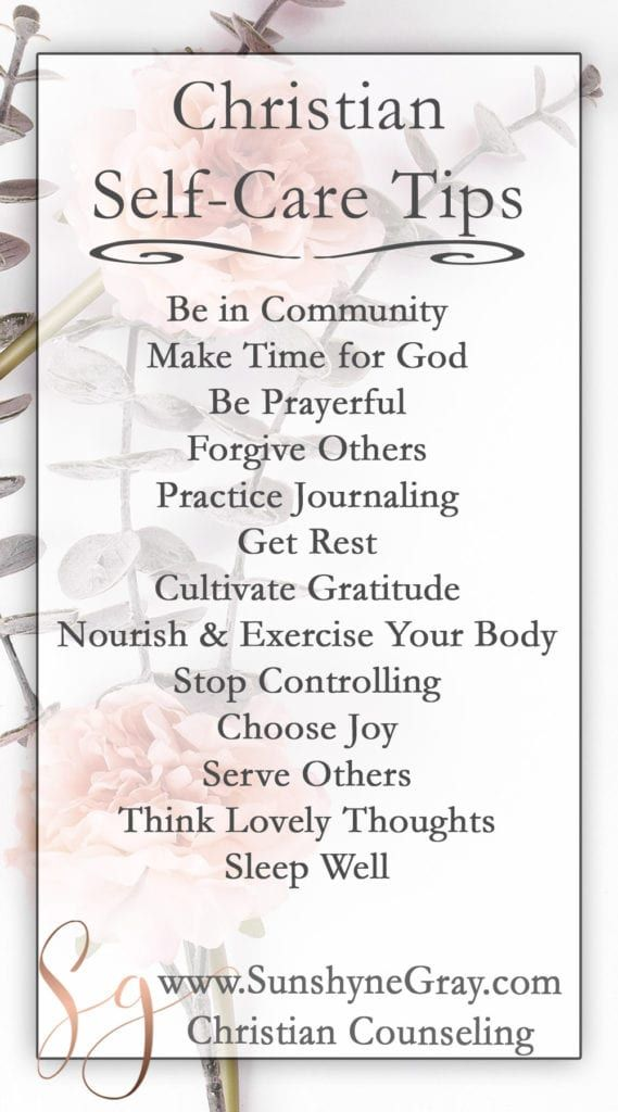 13 Christian Self Care Tips