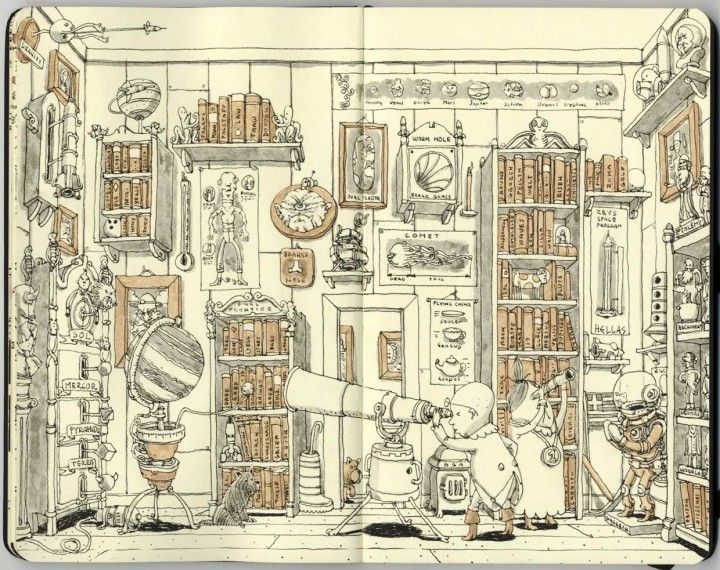 Mattias Adolfsson (Sweden)  Impressively detailed illustrations