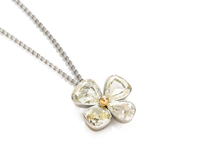 Four-leaf Clover Diamond Pendant