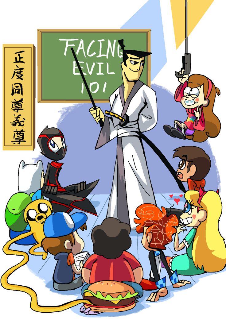 Samurai Jack,Randy Cunningham, Adventure Time, Gravity Falls, Steven Universe, Star vs The Forces of Evil