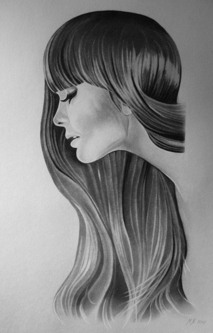 Dívka Ručně malovaný obraz, grafitovou tužkou a černou uměleckou tuhou na akvarelovém papíře. Obraz je dostupný včetně designového rámu různého barevného provedení ( bílá, černá, chrom, bříza a ořech ), dle Vašeho výběru. Rozměr obrazu je 50 x 70 cm včetně pasparty.
