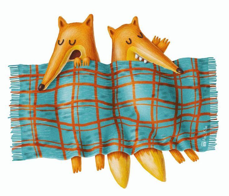 Sleepy Foxes - Anastasiya Klempach