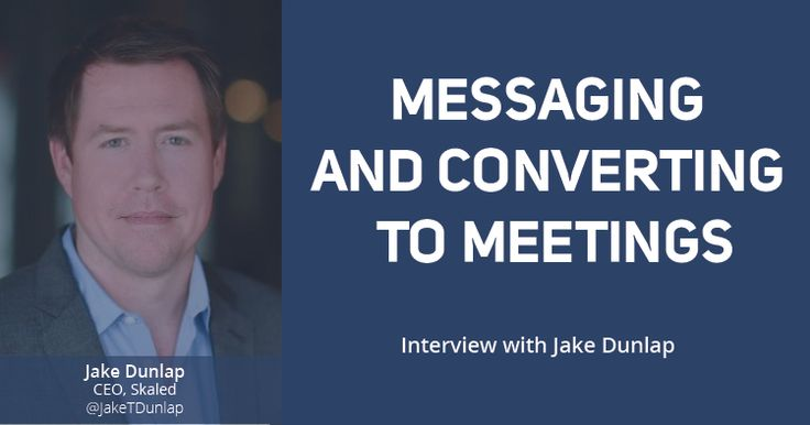 In this interview we talked with Jake Dunlap the CEO of Skaled to learn more about his upcoming workshop at Sales Hacker Conference in New York City.