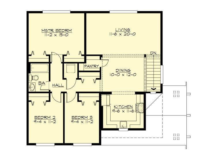 3265 best homes images on pinterest small house for 3 bedroom carriage house plans