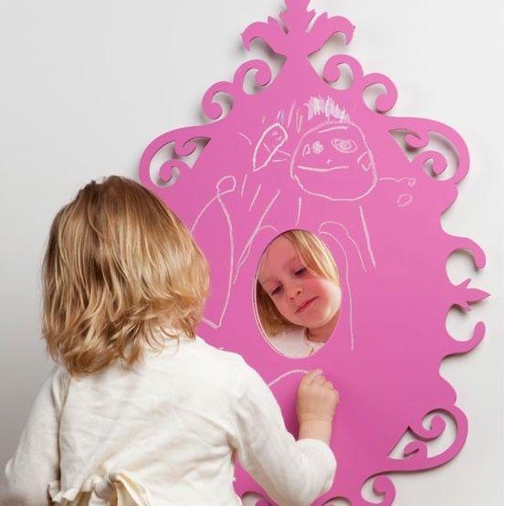 Wandspiegel en krijtbord Prinses van SEMdesign / Mirror and chalkboard Prinses by SEMdesign http://www.funky-friday.com/wandspiegel-en-krijtbord-prinses-van-semdesign.html#