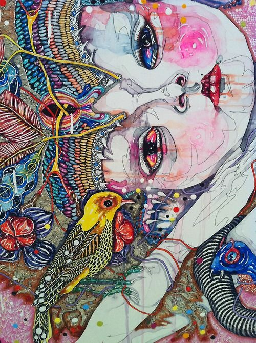 Come of Things (detail), Del Kathryn Barton, 2010