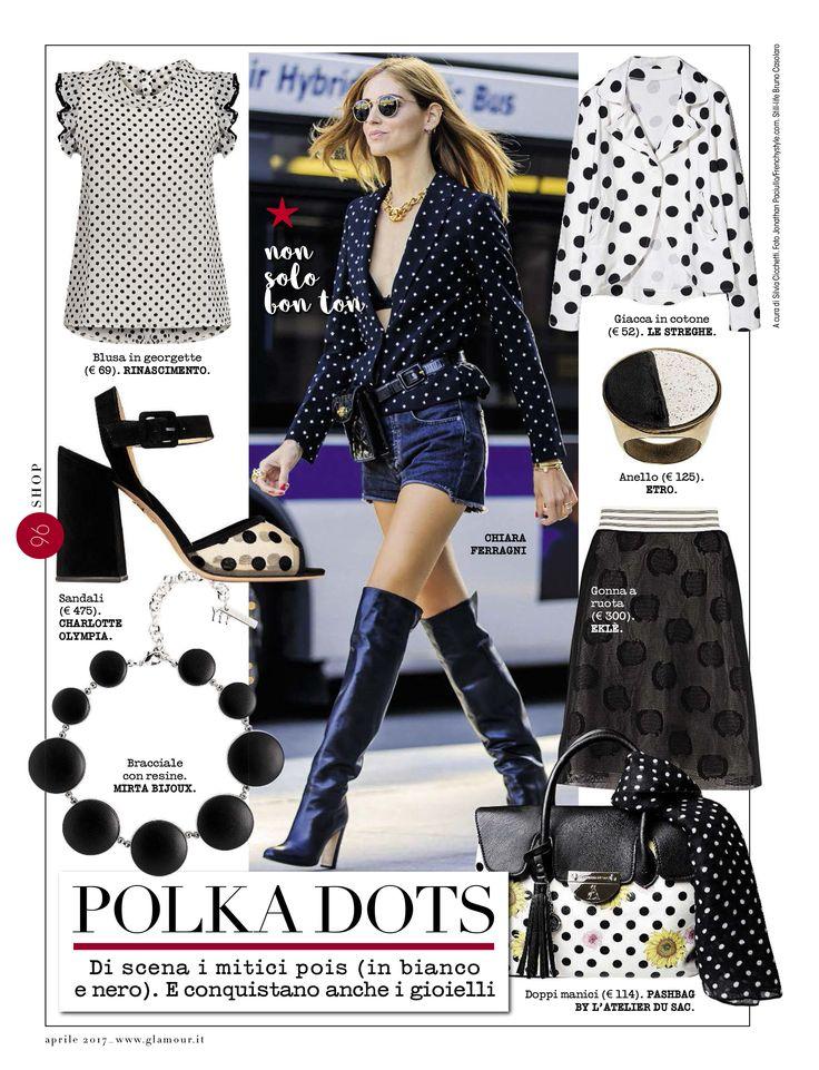 @glamouritalia @silviacicchetti #ekle #skirt with #pois on #glamour in a #chiaraferragni #looklike #look @glamouritalia @silviacicchetti la #gonna #ekle ed i suoi #pois su #glamour in un look molto #chiaraferragni #black #blackandwhite #jewels #silviacicchetti #iloveit #wow #wonderful #iwantitall #iloveshopping #beautiful