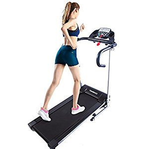 This Tomshoo 500W Folding Motorized Treadmill is one of the smallest and most compact treadmlls on the market.