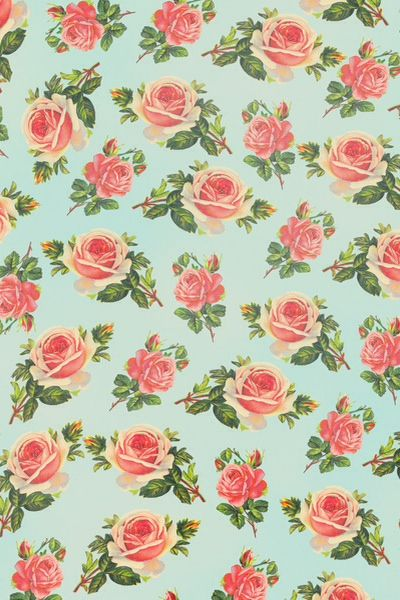 Rose Print Wallpaper / Background / Home Screen