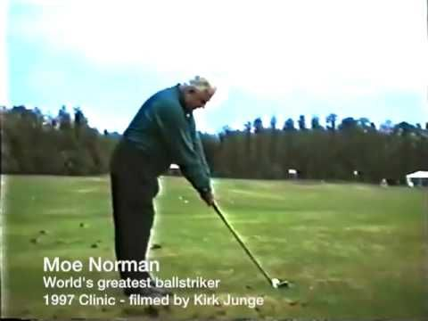 Moe Norman 1997 Golf video clinic - (Part 2 of 6) Online golf instruction - YouTube