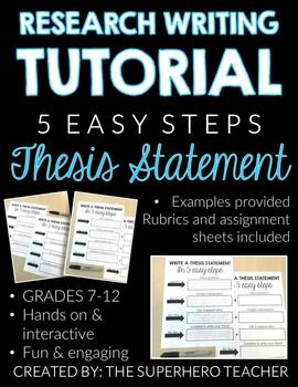 how to write a thesis statement 0 5