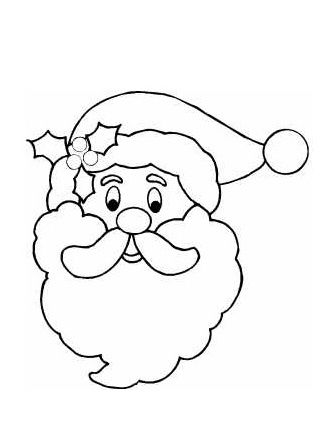 santa face template coloring page