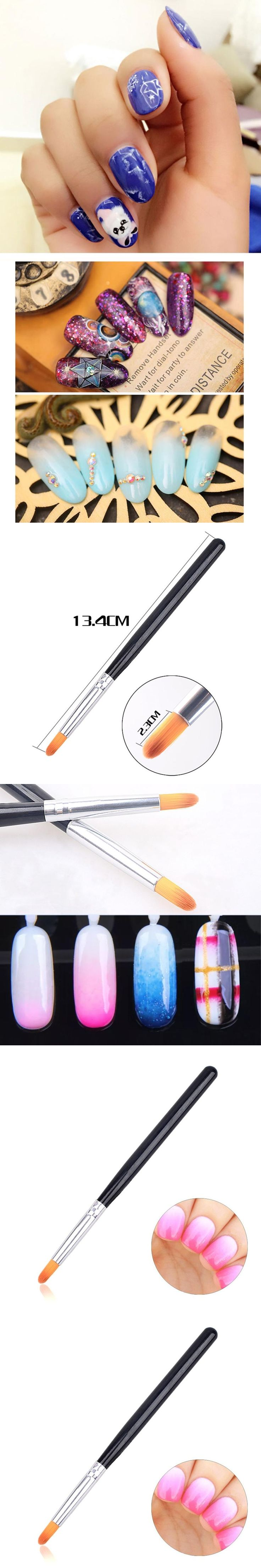TSW Handle UV Gel Nail Art Tip Care Pen Brush Manicure Tool 0411A5Down