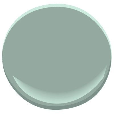 Front door color with red brick. Benjamin Moore Stratton Blue, soft blue with a hint of green, may look a bit dark in low light rooms, works with floors that have orangey undertones