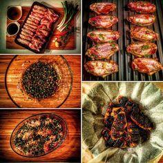 Ballı Zencefilli Tavuk Kanadı  Hazırlanma Süresi: 10 dk + 1 gün marine süresi  Pişirme Süresi: 10 - 15 dk  Malzemeler:  - 24 adet tavuk kanadı - 5 adet taze soğan - 5 kaşık bal - 2 kaşık soya sosu - 1 adet kurutulmuş acı biber - 2 cm kalınlığında zencefil - 5 dal taze kekik  Tarif için; beyazyakalininbeyazonlugu.tumblr.com