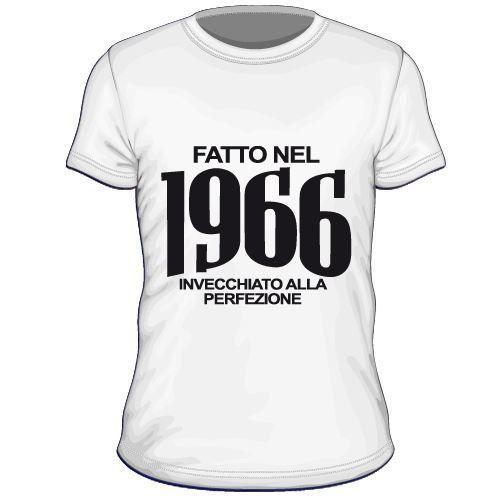 Maglietta personalizzata Fatto nel 1966 invecchiato alla perfezione