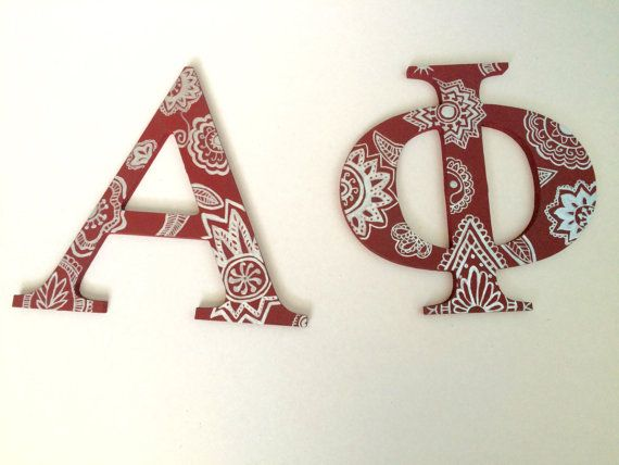 Wooden Customized Sorority Letters
