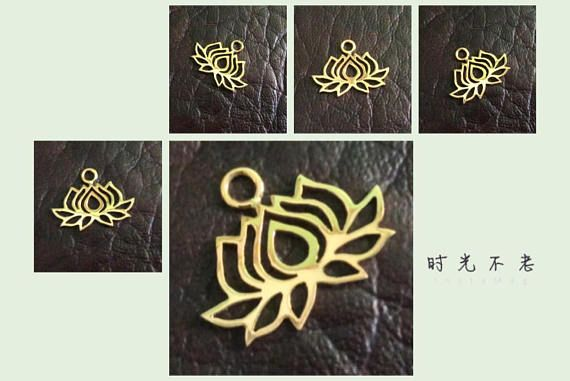 PRODUCT INFO:  Item code: CH557136 Name item: silver Lotus charm 20 x 17 mm with jumpring Full Name: 925 sterling silver Lotus charm 20 x 17 mm with jumpring available in sterling silver & vermeil Fabrication method: Handmade each item cut individually Style: Lotus Charm Dimension: 20 x 17 mm Tightness: 0.90 mm Rings/Loop inside dia.: jumpring 0.75 x 2.5 mm inside dia. Clusters/Balls/Accents: None Approximate weight for 6 pieces: 5.04 gram Country of origin: Indonesia Note:...