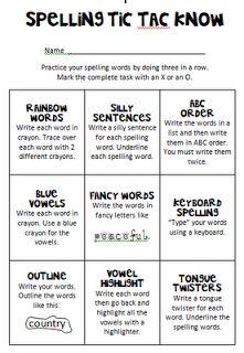Debbie's Dabblings: Friday Freebie - Spelling Practice