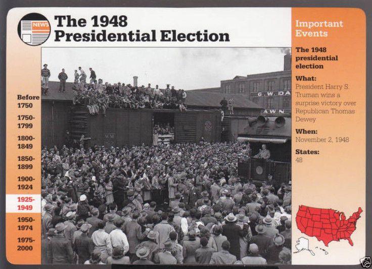 1948 Presidential Election Harry s Truman Richmond Indiana Photo Story Card   eBay