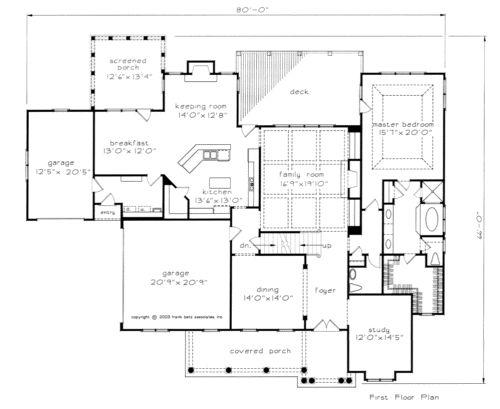 Room kitchen house plans and home on pinterest for Www frankbetz com