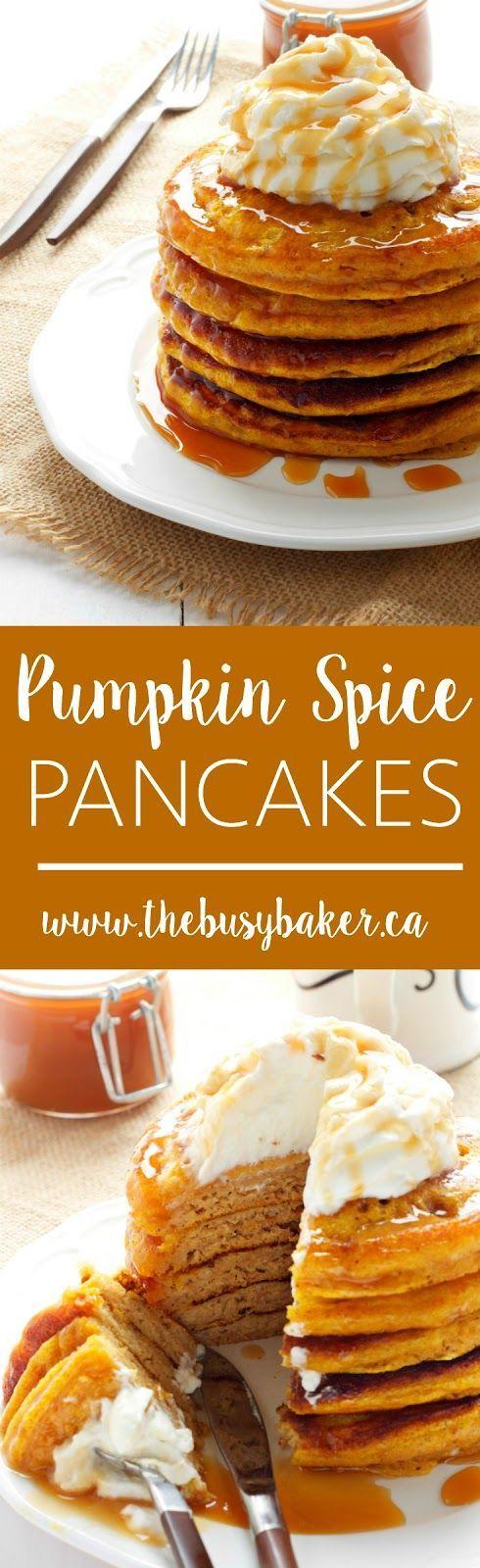 Pumpkin Spice Pancakes www.thebusybaker.ca: http://www.thebusybaker.ca2016/09/pumpkin-spice-pancakes.html