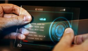 как создать похожую голограмму из фильма IRON MAN 2.