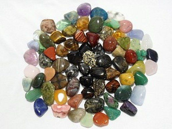 Tumbled stones - showing off their lustre