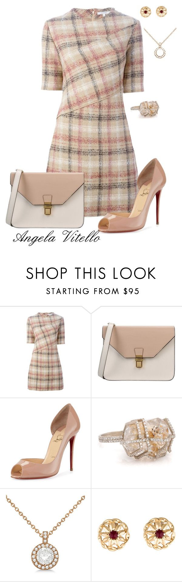 """""""Untitled #625"""" by angela-vitello on Polyvore featuring Carven, 8, Christian Louboutin, Allurez and Givenchy"""