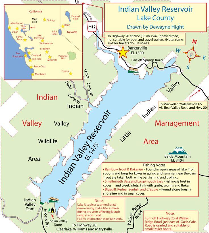 Indian valley lake lake lake county fishing boats