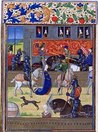 Froissart - Jousts in London  BnF