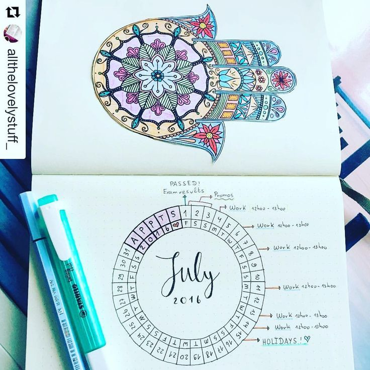 Calendar Wheel Bullet Journal : Calendars wheel for your bullet journal show me