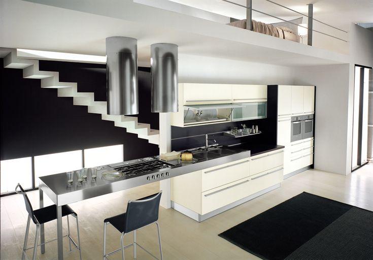 Cocinas con islas modernas de las cocinas modernas con Islas de cocinas integrales modernas