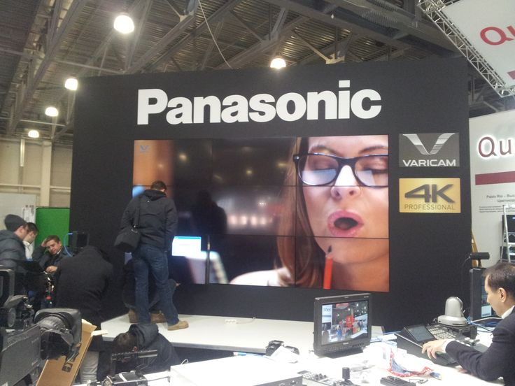 Natexpo 2014 Panasonic booth.One second before girl eat pen