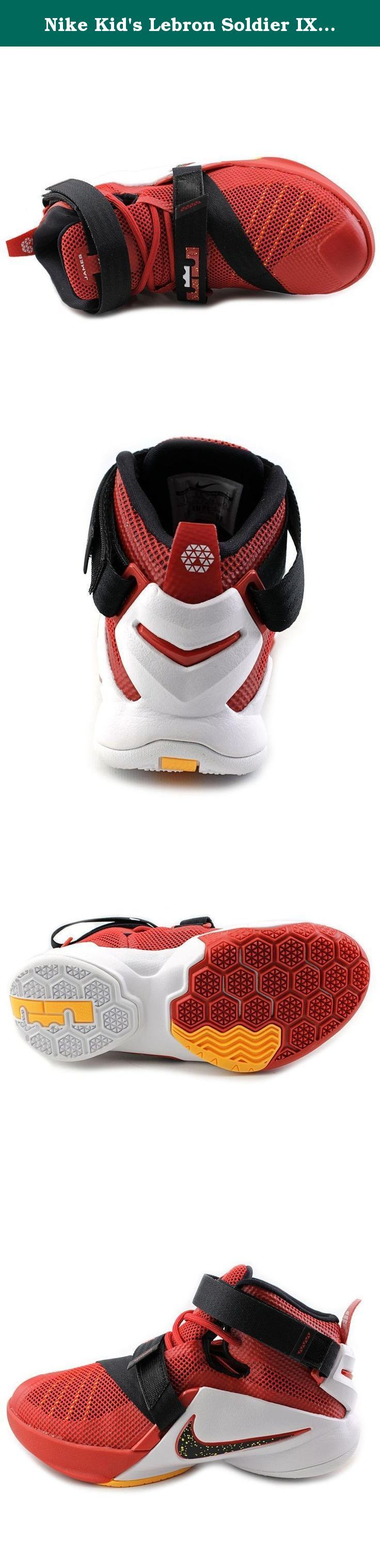 Nike Kid's Lebron Soldier IX GS, UNIVERSITY RED/BLACK-TEAM RED-WHITE, Youth Size 7. Nike Kid's Lebron Soldier IX GS, UNIVERSITY RED/BLACK-TEAM RED-WHITE, Youth Size 7.