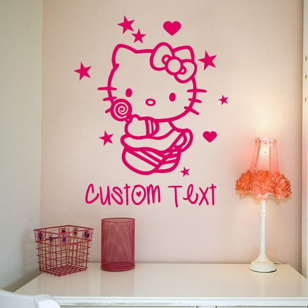 Hello Kitty Wall Sticker - Customized Name