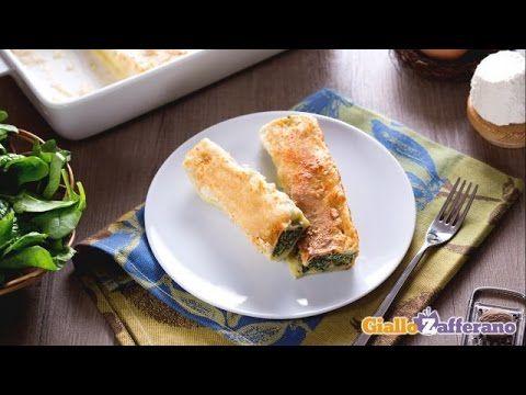 video ricetta by giallozafferano: cannelloni ricotta e spinaci.
