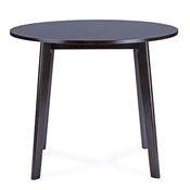 Baxton Studio Debbie Mid-Century Dark Brown Wood Round Dining Table Baxton Studio restaurant furniture, hotel furniture, commercial furniture, wholesale dining room furniture, wholesale tables, classic dining tables