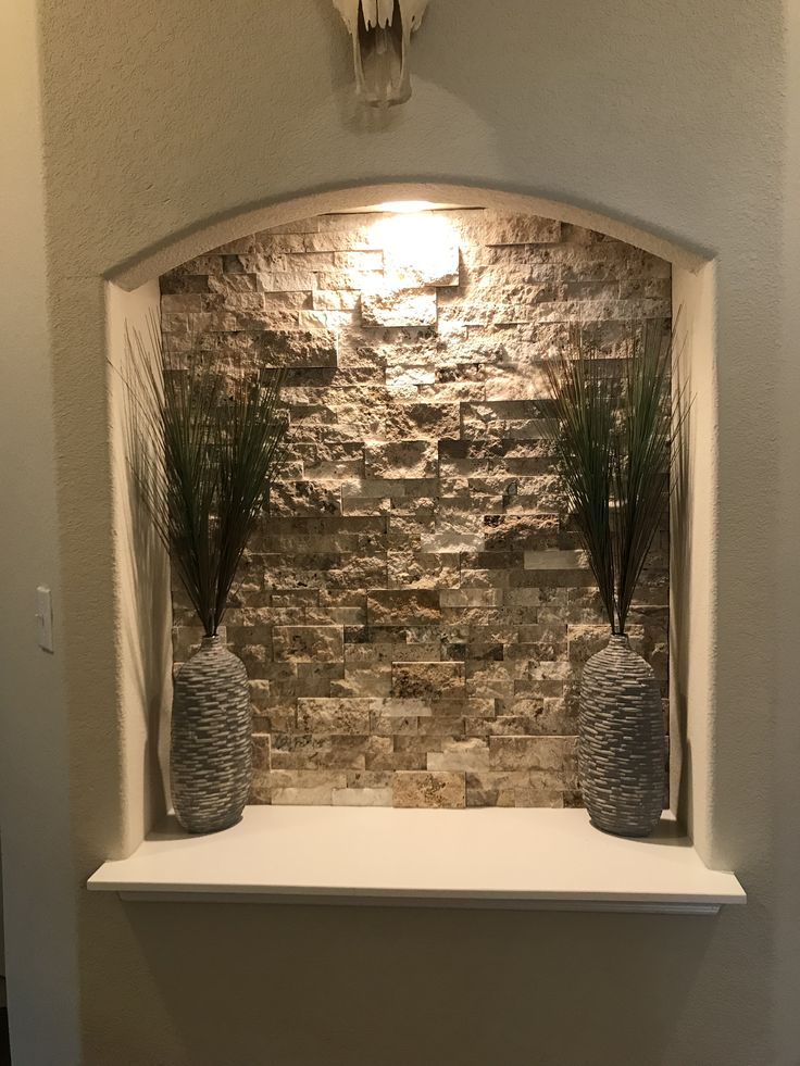 Alcove/Niche with Stacked Stone Stone, Alcove, Home projects