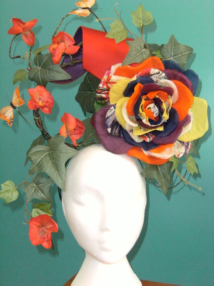 #Couture Headdress #silk fabric flower # Milliner: Toni Spence #Millinery Toowoomba