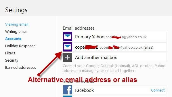 What Is Email Alias How To Create It In Yahoo Mail Account Email Yahoo