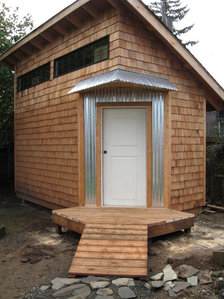 8x16 Shed 45 Degree Door Green Design Building Shed