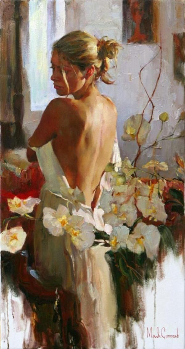 Painting of a Woman. Art by Michael & Inessa Garmash