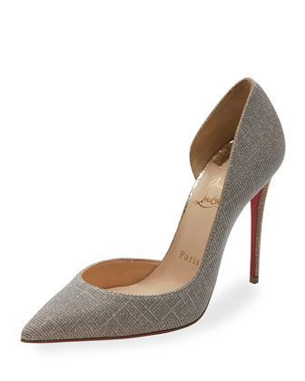 Iriza Glitter Red Sole Pump, Silver/Gold by Christian Louboutin at Neiman  Marcus.