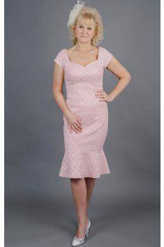 Pouzdrové šaty růžové s volánem srdíčkový výstřih kratší rukávek poudrová sukně s volánem možná úprava střihu a ušití na míru