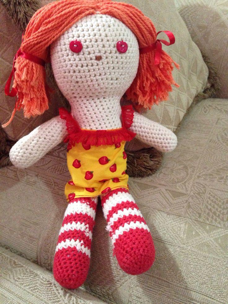 Crochet doll.