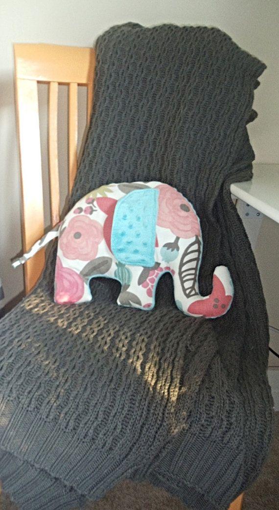 Sarawak Tutti-Frutti Elephant Pillow _ Designer by SewPookie