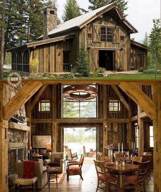 Barn Turned Into A Beautiful Home Barn Style House Barn House